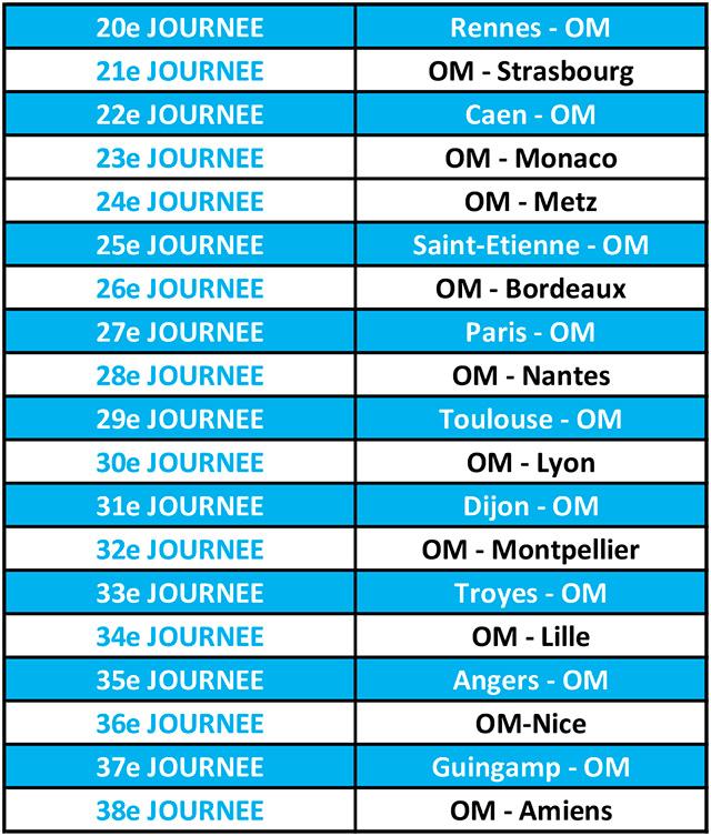 Calendrier Des Matchs De Lom.Saison 17 18 Le Calendrier De L Om Massalialive Com